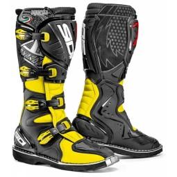 Botas motocross Sidi Agueda negro amarillo fluo