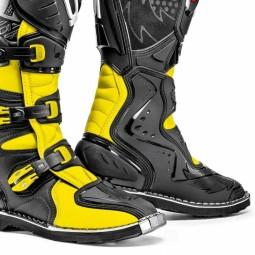 Bottes motocross Sidi Agueda noir jaune fluo