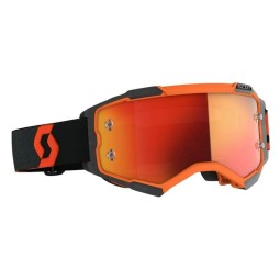 Lunettes motocross Scott Fury orange noir