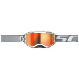 Scott Fury white grey motocross goggles
