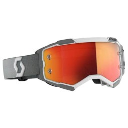 Scott Fury weiß grau motocross brille