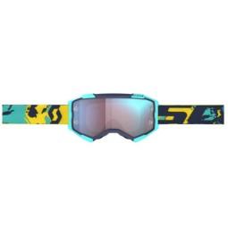 Scott Fury blau gelb motocross brille