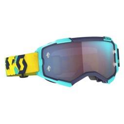 Gafas motocross Scott Fury azul amarillo