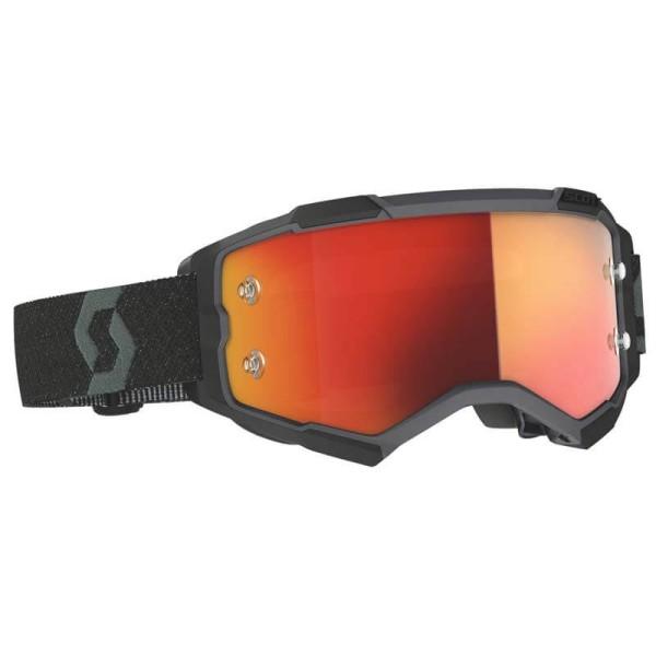 Occhiali Enduro Velocity 6.5 Leatt MX lenti a specchio arancioni