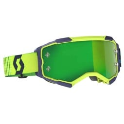 Scott Fury yellow fluo blue motocross goggles