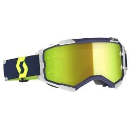 Scott Fury blue grey motocross goggles
