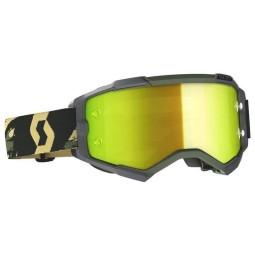 Scott Fury camo kaki motocross goggles