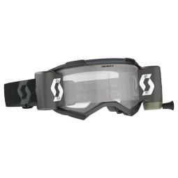 Scott Fury WFS black motocross goggles roll-off