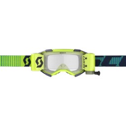 Gafas motocross Scott Fury WFS azul amarillo roll-off