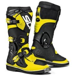 Botas motocross niños Sidi Flame amarillo fluo negro