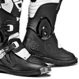 Bottes motocross enfant Sidi Flame enfants noir blanc