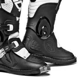 Sidi Flame Kinder Motocross Stiefel schwarz weiss