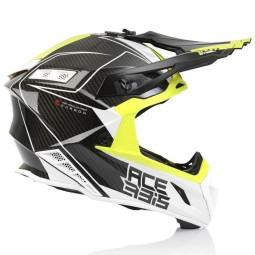 Acerbis Steel Carbon motocross helmet black yellow