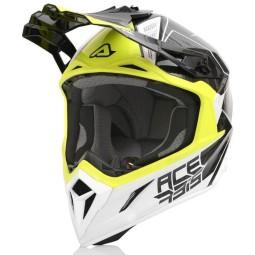 Casco motocross Acerbis Steel Carbon negro amarillo