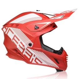 Casco motocross Acerbis X-Track VTR rojo blanco