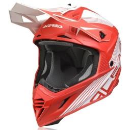 Casque Acerbis X-Track VTR rouge blanc