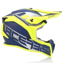Casco motocross Acerbis Linear amarillo azul