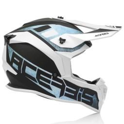 Acerbis Linear motocross helmet white blue