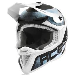 Casco motocross Acerbis Linear blanco azul