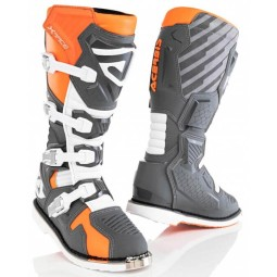 Motocross stiefel Acerbis X-Race grau orange