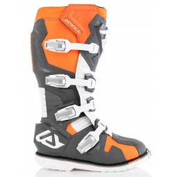 Motocross boots Acerbis X-Race grey orange