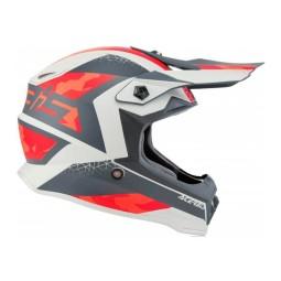 Casco motocross niño Acerbis Steel rojo gris