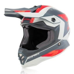 Casque motocross enfant Acerbis Steel rouge gris