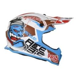 Casco motocross niño Acerbis Steel blanco azul