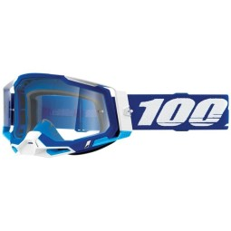 100% Racecraft 2 Essential blue motocross goggles