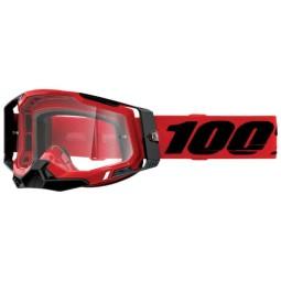 100% Racecraft 2 Essential red motocross goggles