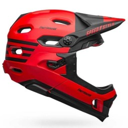 Bell Super DH MTB helmet Fasthouse red black