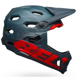 Casco de MTB Bell Super DH Blue Crimson