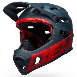 Bell Super DH MTB helmet Blue Crimson