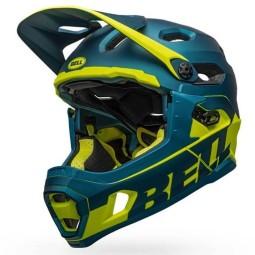 Bell Super DH MTB helmet Blue Hi Viz