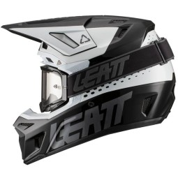 Motocross helmet Leatt 8.5 Composite white black