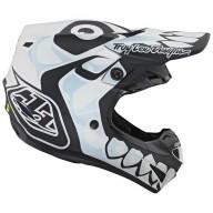 Motocross Helmet Troy Lee Designs SE4 Polyacrylite Skully white