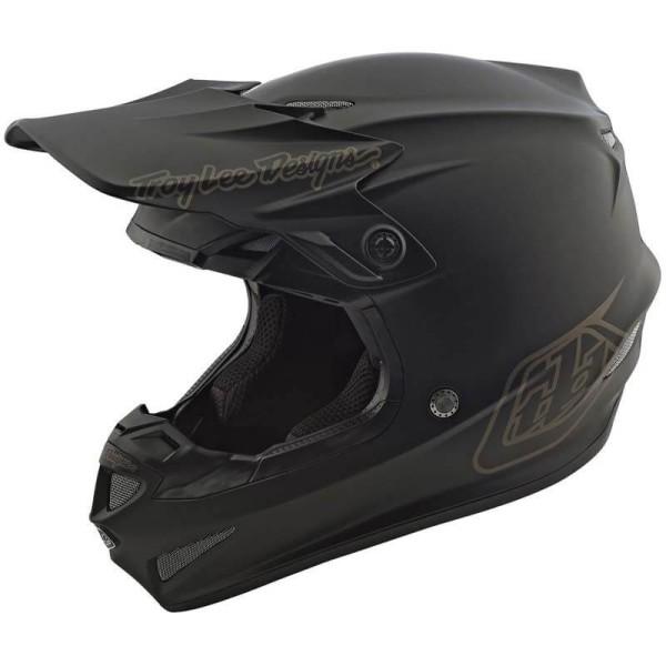 Motocross Helmet Troy Lee Designs SE4 Polyacrylite Mono black