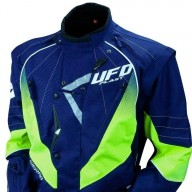 Ufo Plast Enduro blue yellow fluo motorcycle jacket