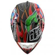 Casco de motocross Troy Lee Design SE4 Carbon Eyeball black