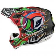 Motocross helm Troy Lee Design SE4 Carbon Eyeball black
