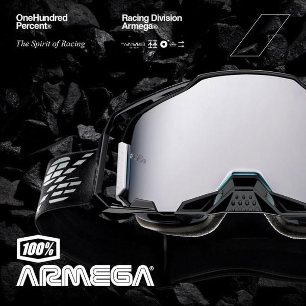 Motocross Goggles 100% ARMEGA Black Mirror