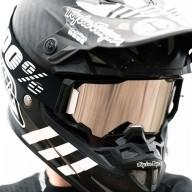 Motocross-Brille 100% ARMEGA Black Mirror
