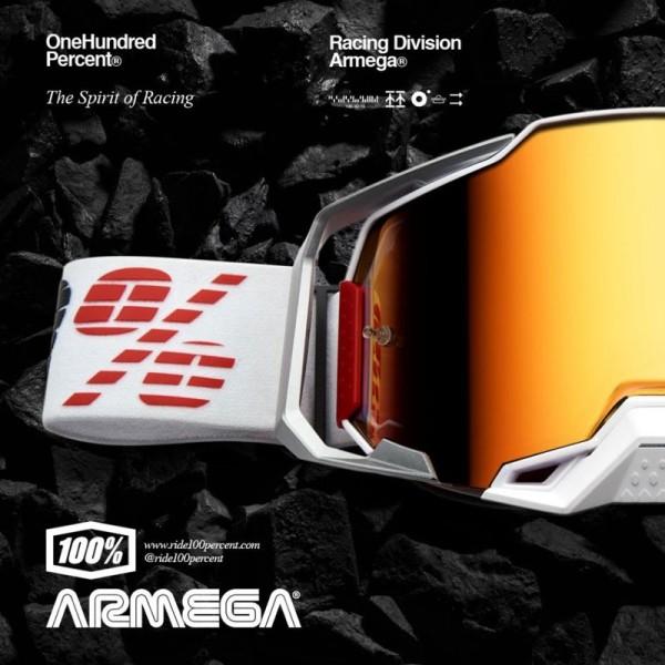 Lunettes Motocross 100% ARMEGA Lightsaber Mirror