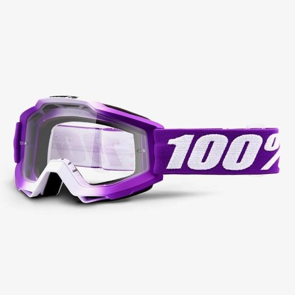Minicross-Brille 100% Accuri JR FRAMBOISE