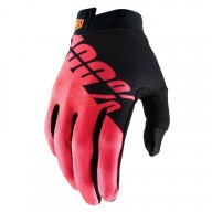 Motocross-Handschuhe 100% iTRACK Black Red