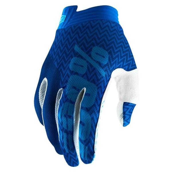 Gants Motocross 100% iTRACK Blue