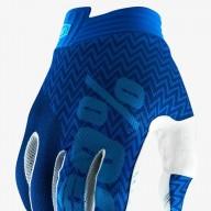 Motocross Gloves 100% iTRACK Blue