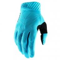 Gants Motocross 100% RIDEFIT Ice Blue