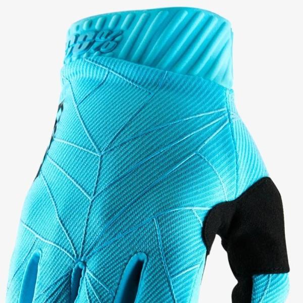 Motocross-Handschuhe 100% RIDEFIT Ice Blue