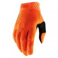 Motocross Gloves 100% RIDEFIT Orange